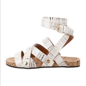 Rebecca Minkoff Tristen Snakeskin Sandals